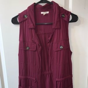 Maurices maroon vest